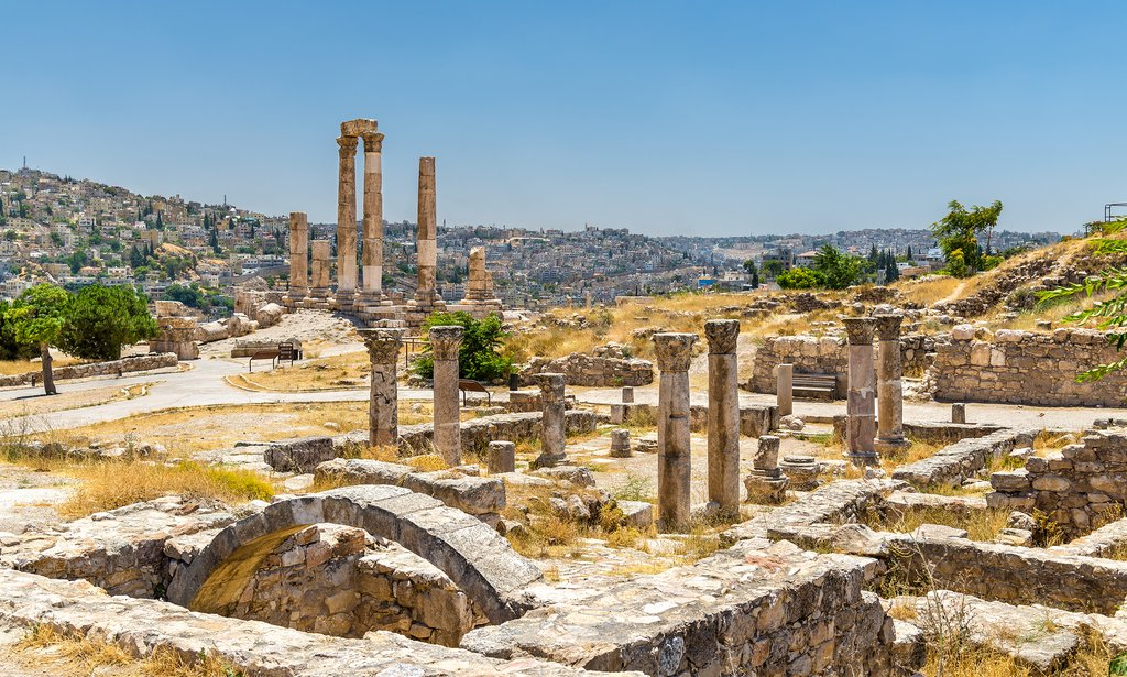 Temple of Hercules at the heart of Amman