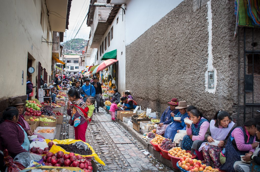 Market on the streets of Cusco
