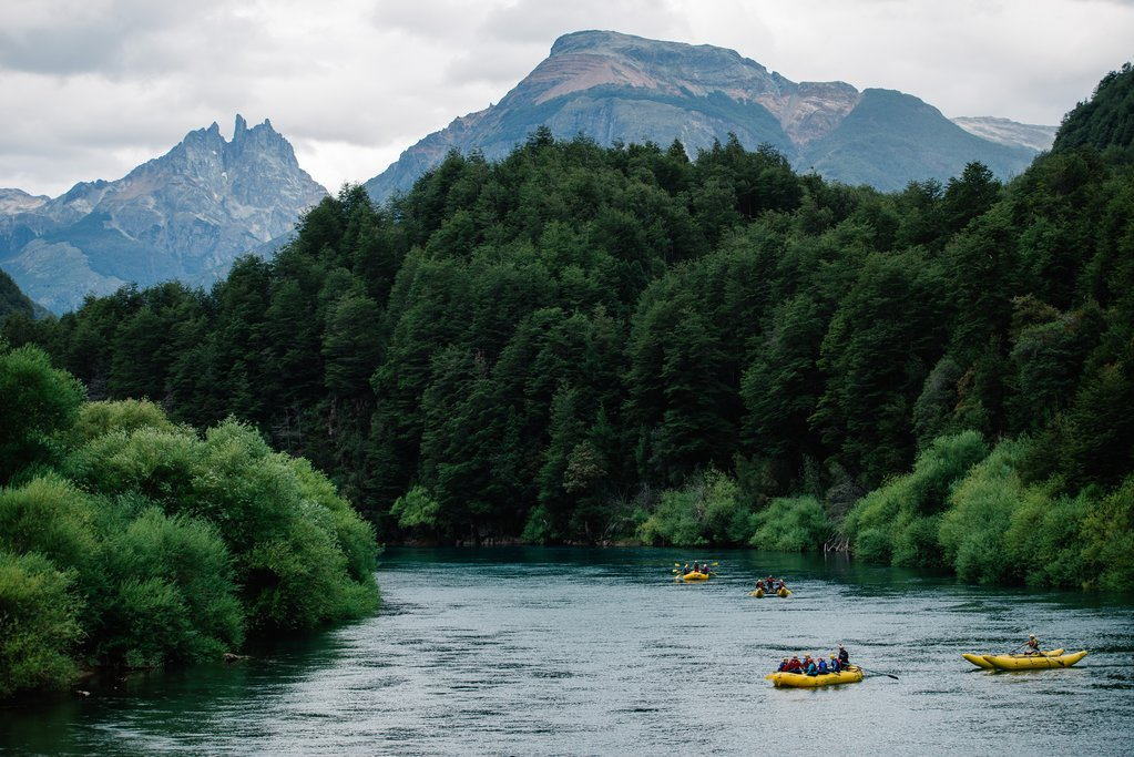 Rafting amongst the spectacular scenery