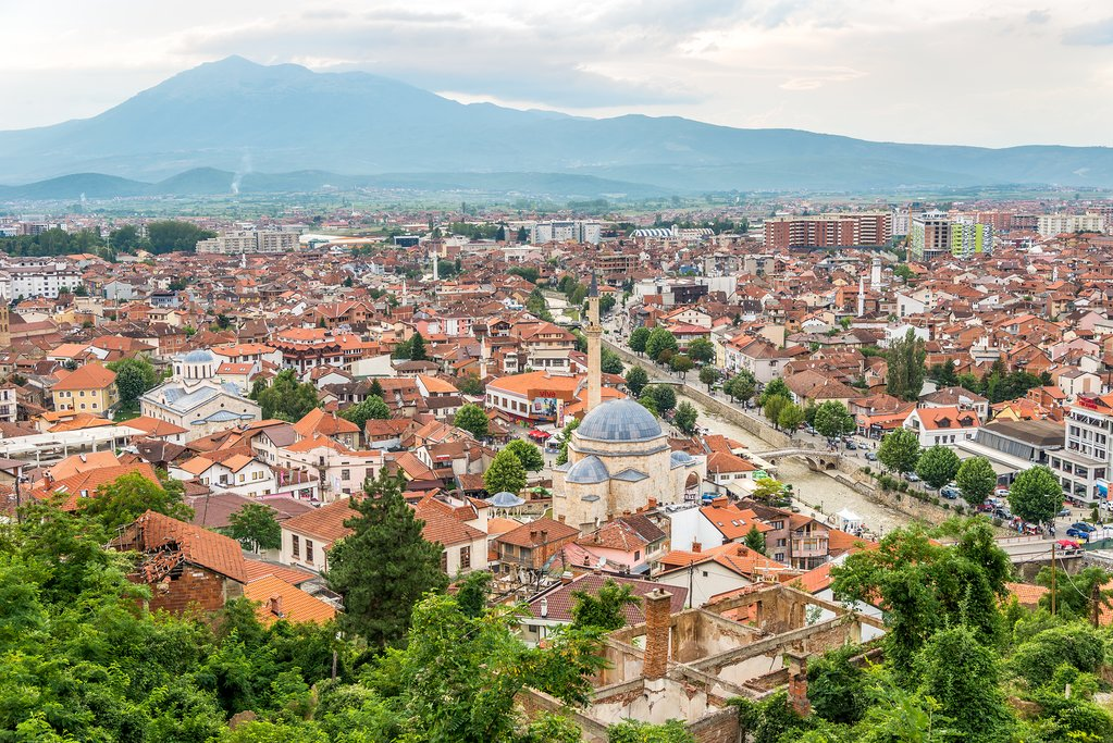 The historice city of Prizren in Kosovo