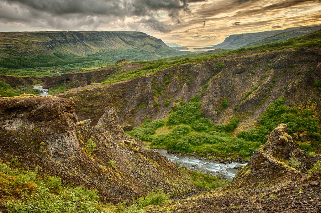 Views of Glymur Canyon