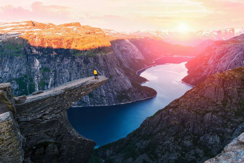 View from the edge of Trolltunga