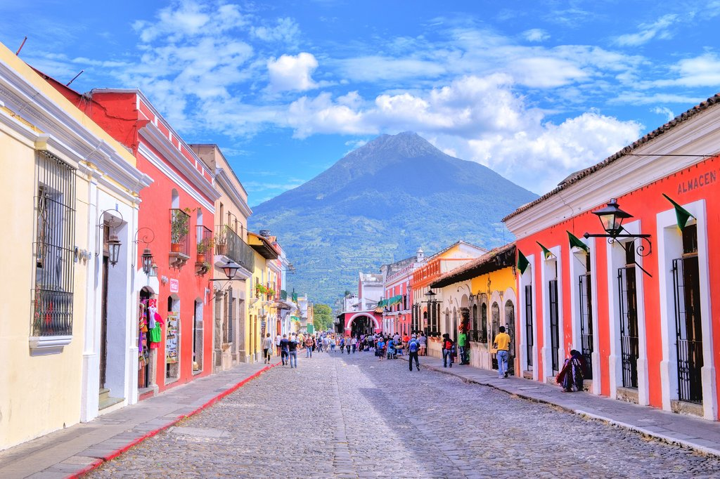 The streets of Antigua, Guatemala