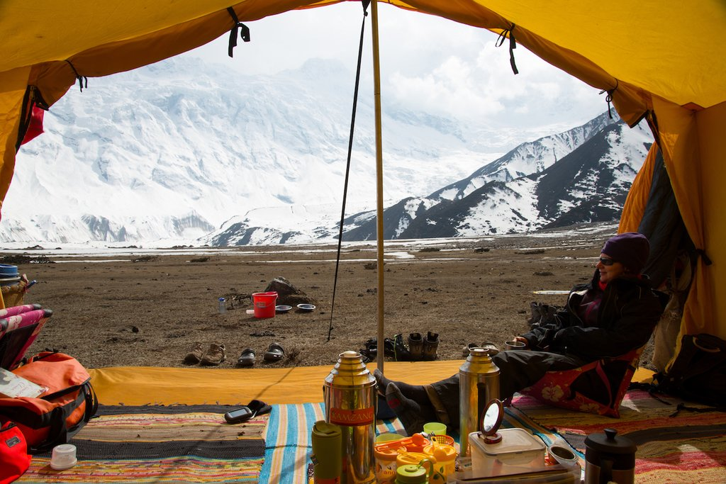 Mountain Views from Kamzang Journey's Unique Dining Tent
