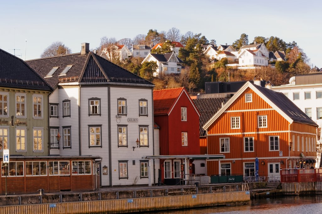 Arendal is a popular resort town during summer months.