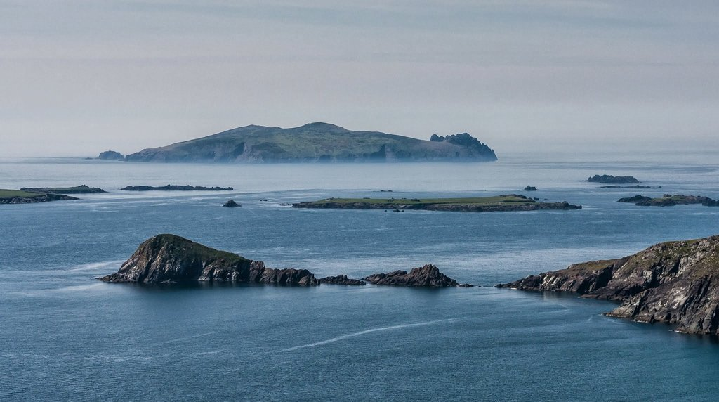 Blasket Islands on the Dingle Peninsula
