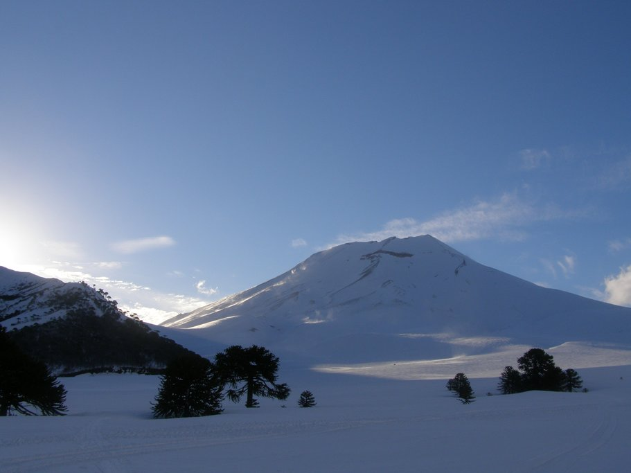 Corralco Ski Resort is on the slopes of Lonquimay Volcano