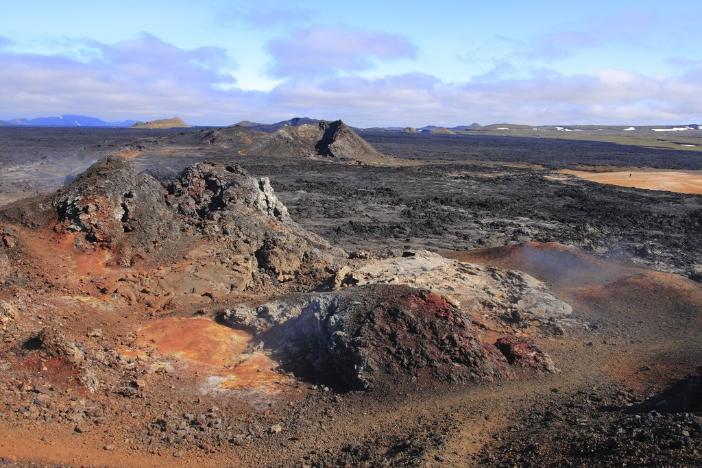 The other-worldly landscape of the Leirhnjúkur lava fields