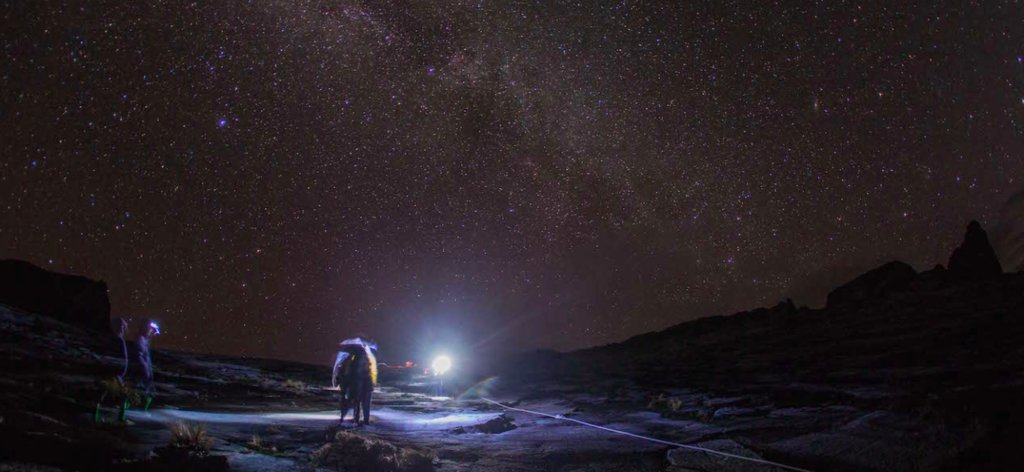 A night safari under the starry Borneo sky