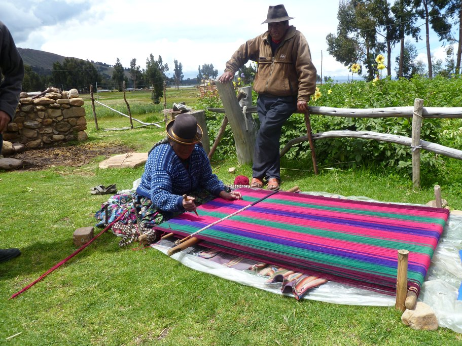 The locals make money through their community-based agri-tourism project, and by creating traditional textiles