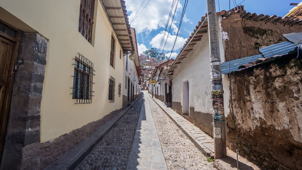 Narrow streets in Cusco are a perfect place to spend an afternoon wandering around