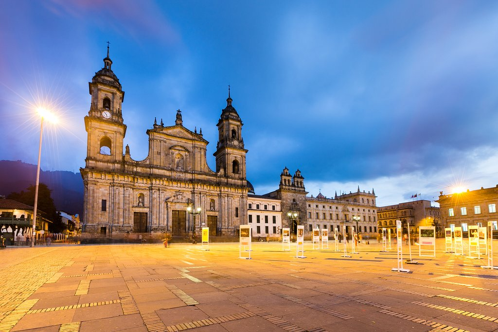 Plaza de Bolívar is a great place to begin your exploration of Bogotá.