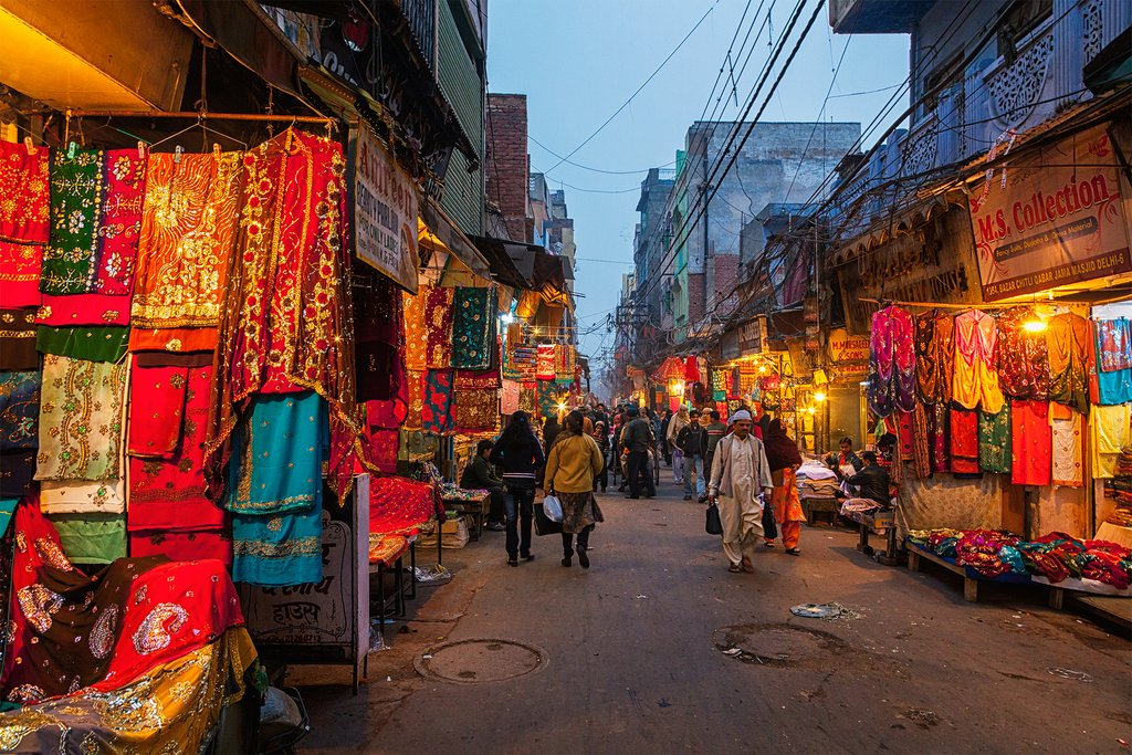 The lively markets of Old Delhi