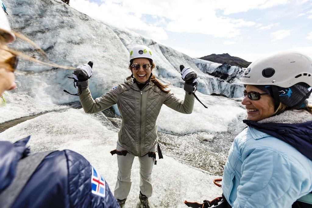 Ice trekking inSólheimajökull