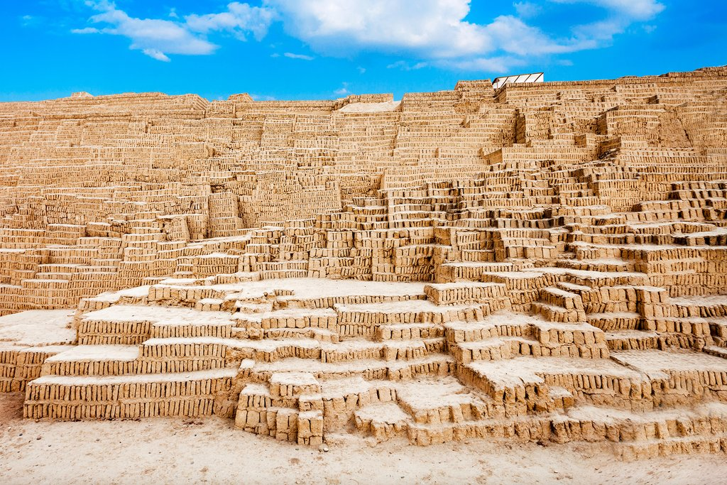 Huaca Pucllana, a surreal restored ancient pyramid, in Miraflores