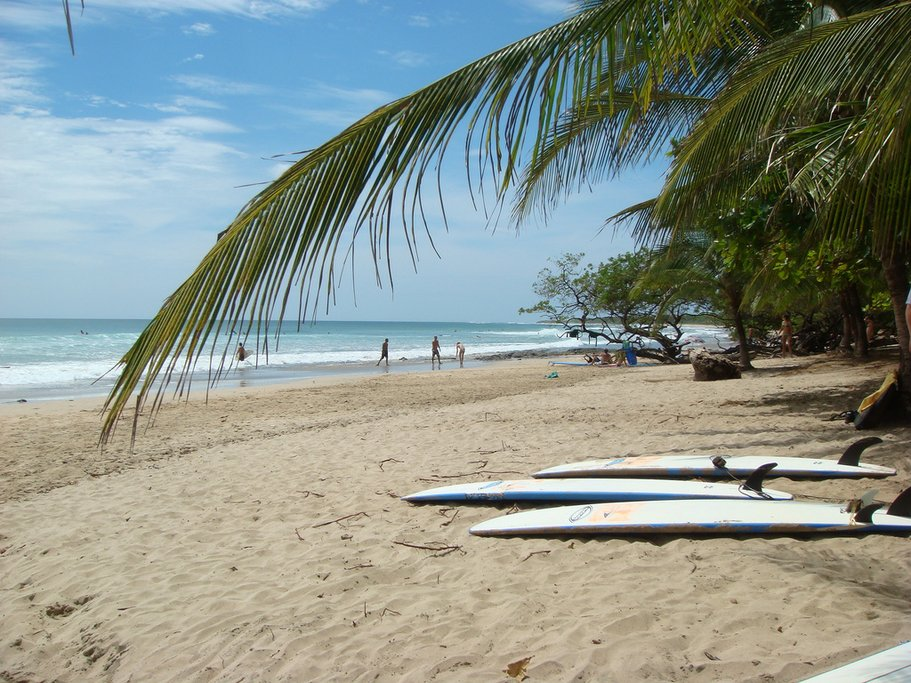 Playa Avellana, a popular surfing spot