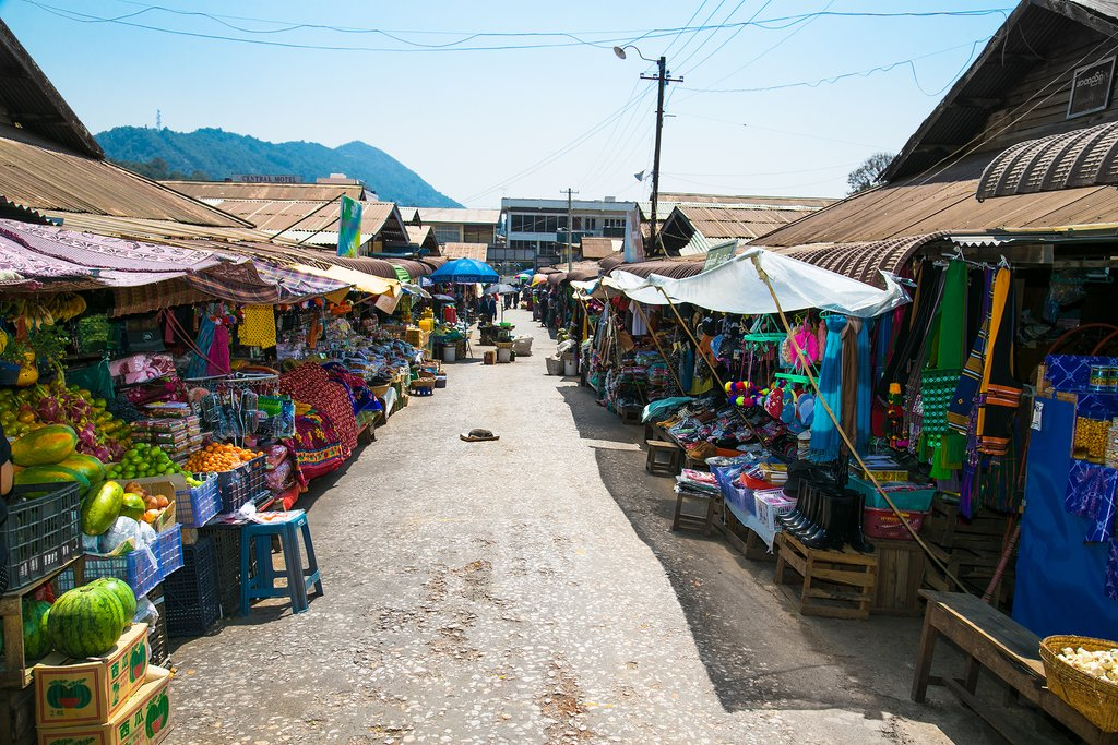 Local market in Kalaw