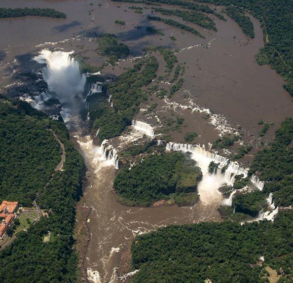 Bird's Eye View of Iguazu Falls