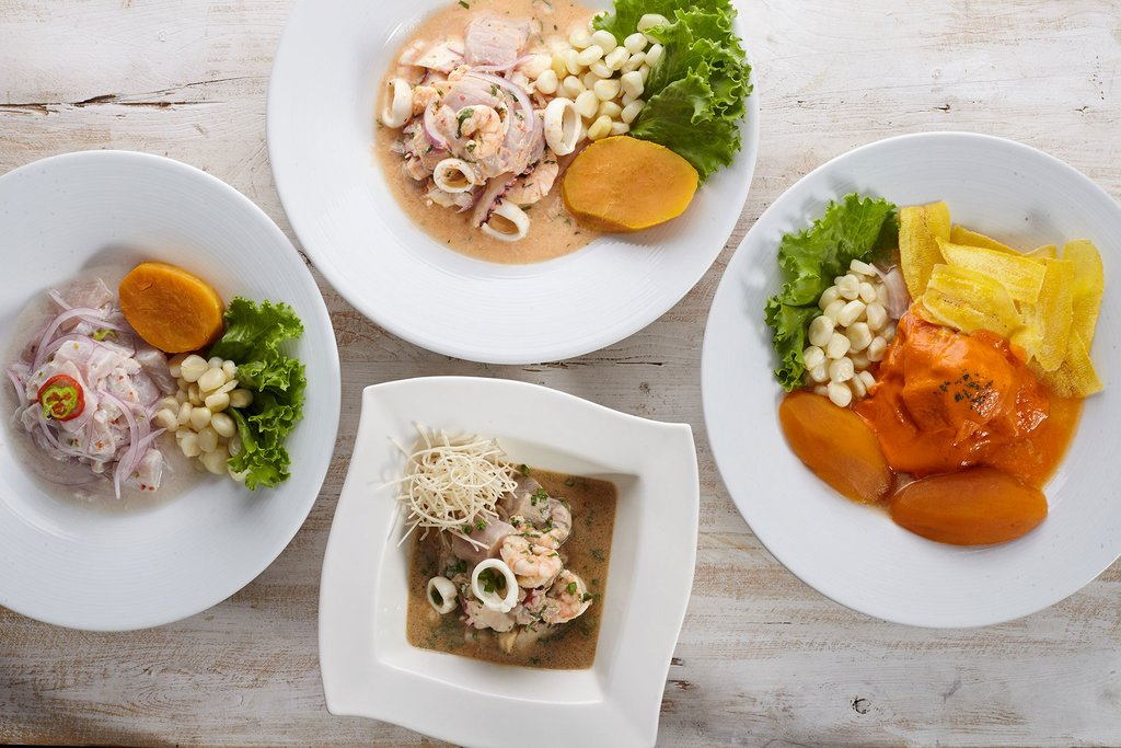 A quartet of ceviche styles at Punto Azul (Photo credit: Punto Azul)