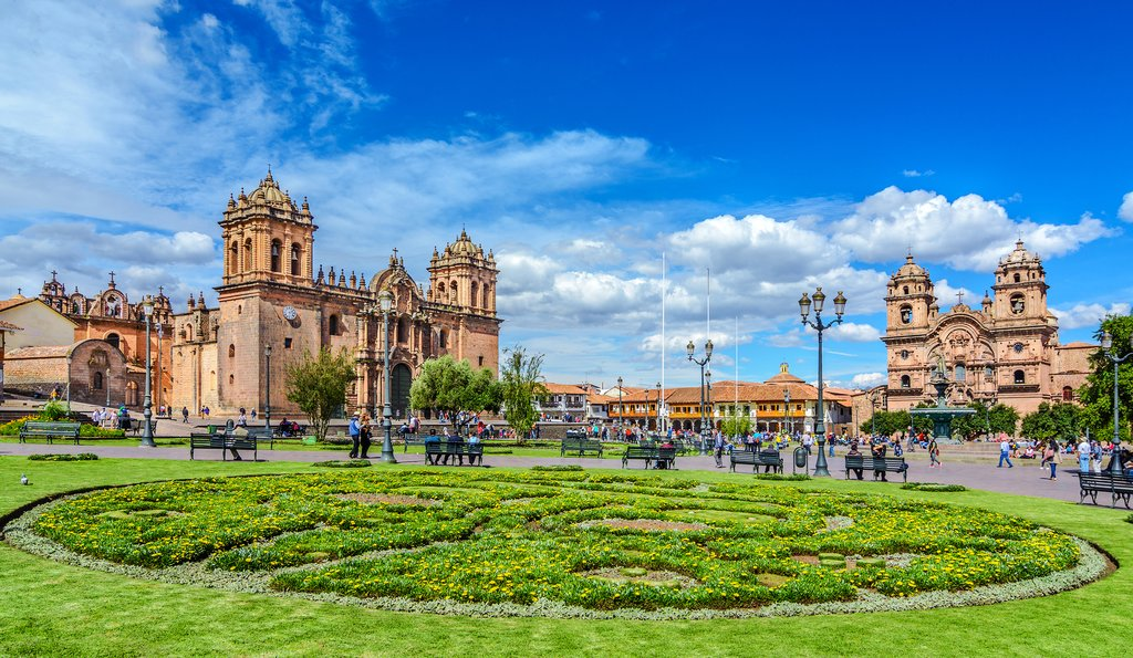 Cusco's Plaza de Armas is ringed by impressive colonial buildings