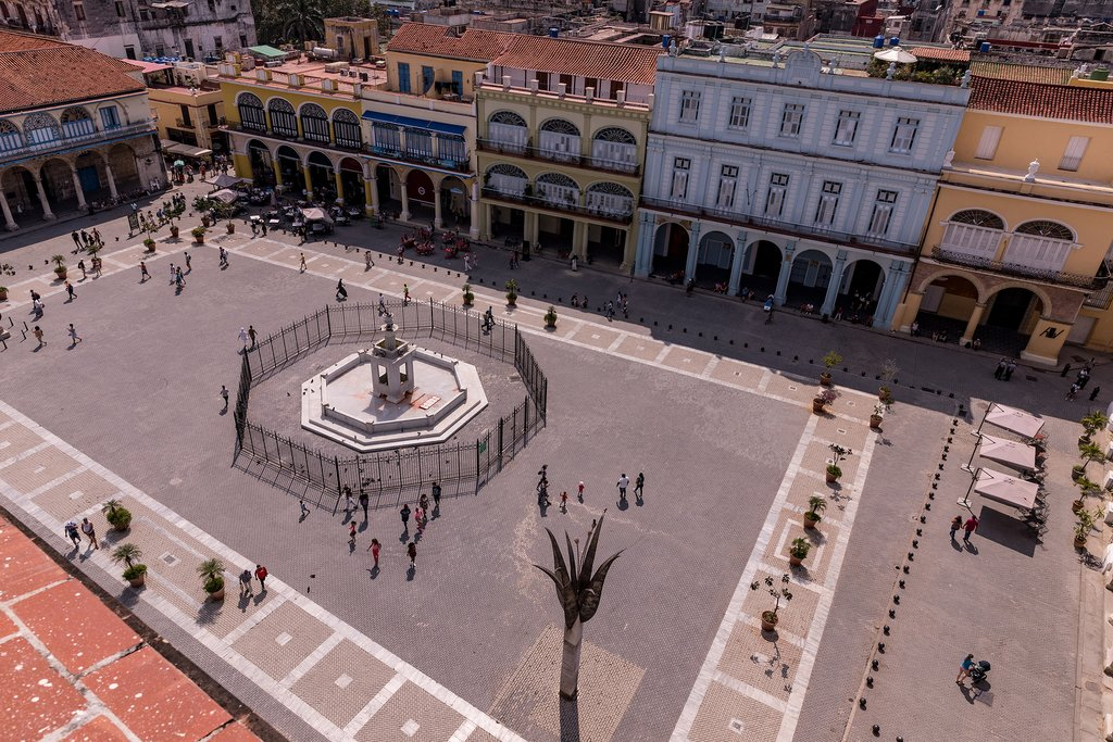 The beautifully refurbished Plaza Vieja in Habana Vieja