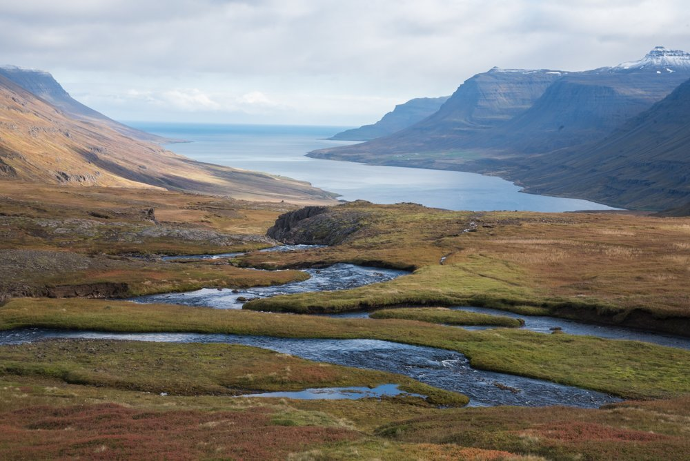 Sedisfjordur from the Vestdalur trail (photo by Chris McCarty)