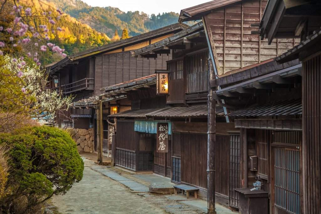 Historical preservation efforts in the Kiso valley have led to well-maintained villages along the trail