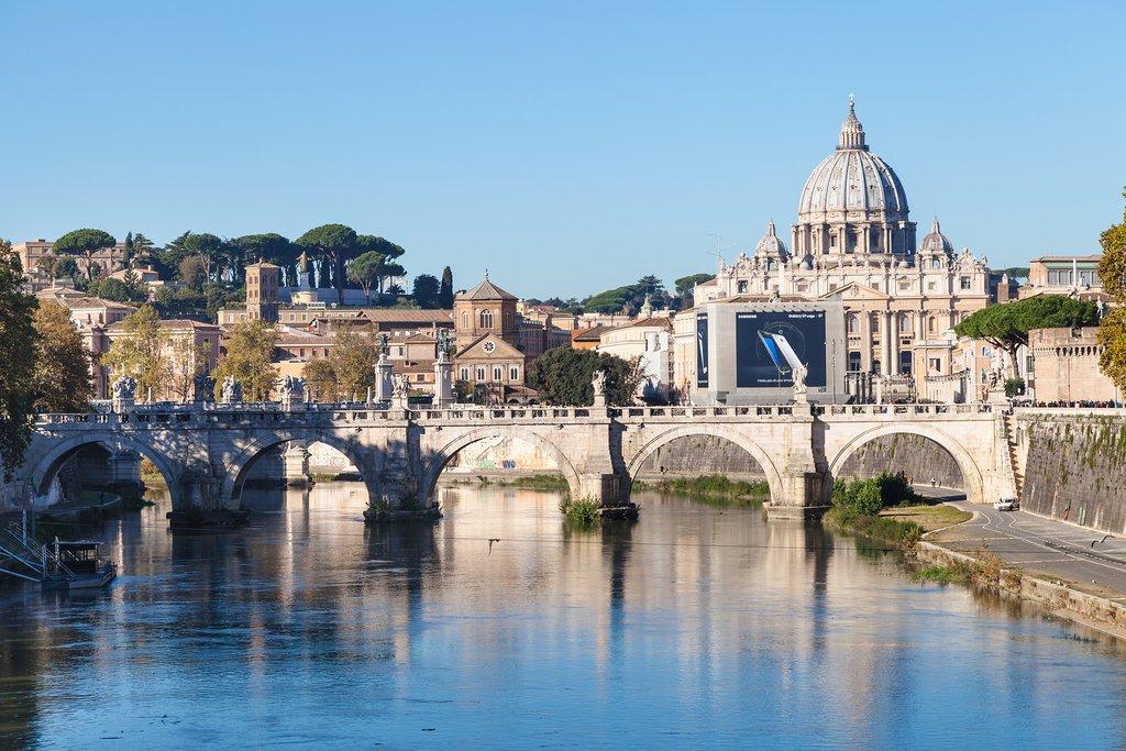 Ponte Umberto with Basilica St Peter Tiber Ponte Sant Angelo