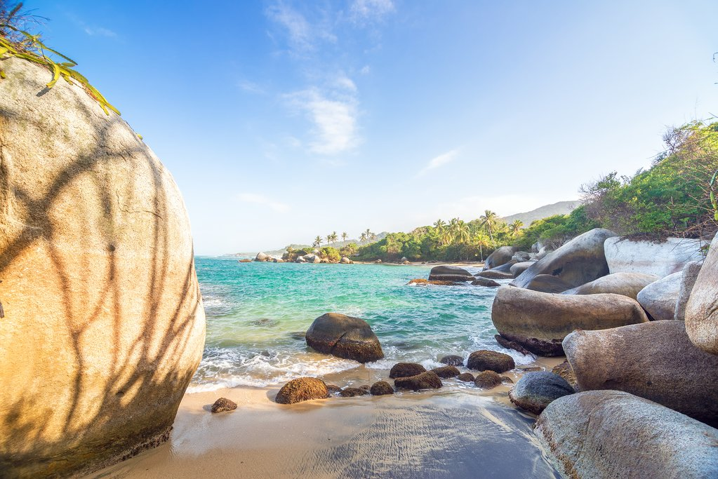 Caribbean Sea in Tayrona National Park