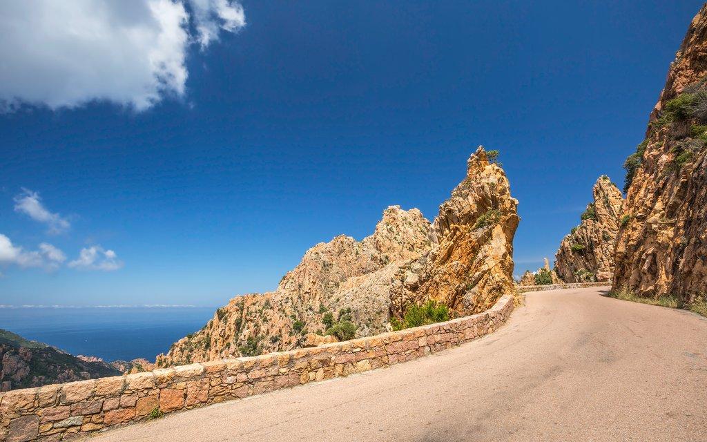 Road through the Calanches de Piana