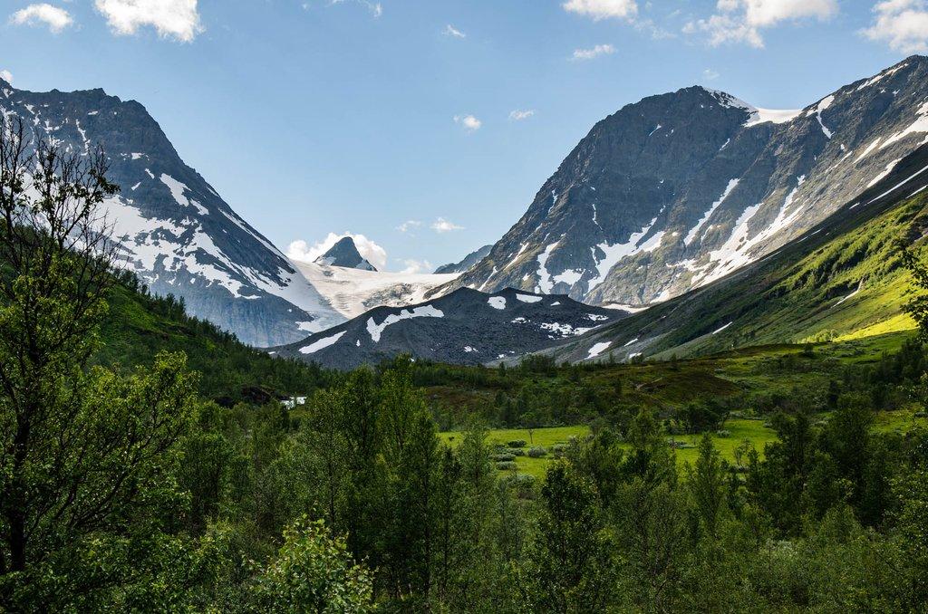 Koppangen valleys and mountains