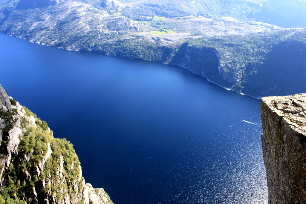 Stunning views of the Lysefjord from Pulpit Rock.