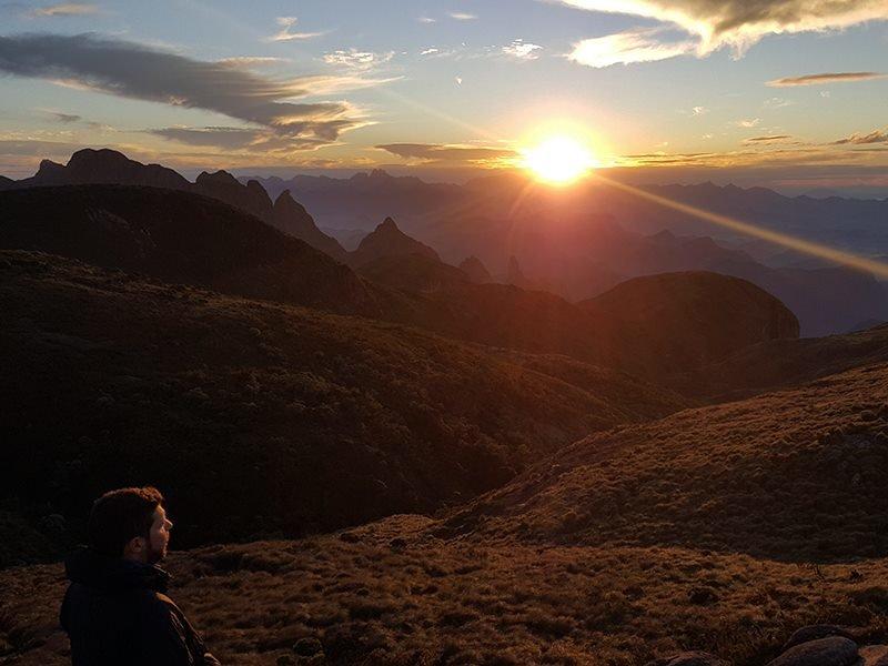 Sunset over the Serra dosÓrgãos