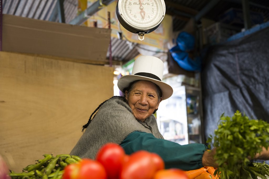 A food market in Cusco