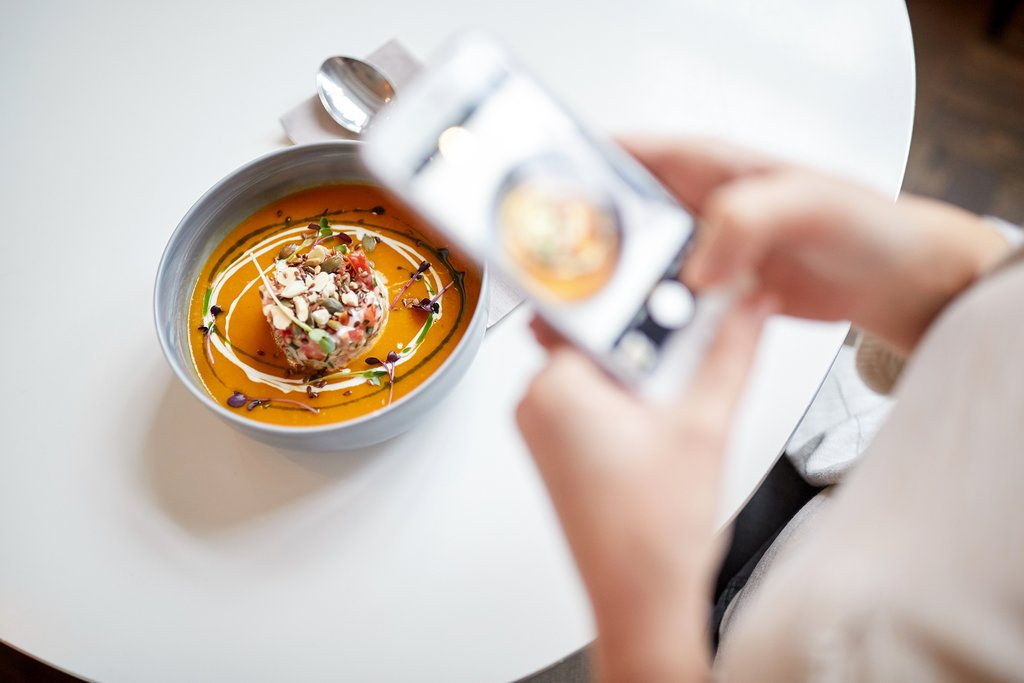 Instagramming a bowl of soup