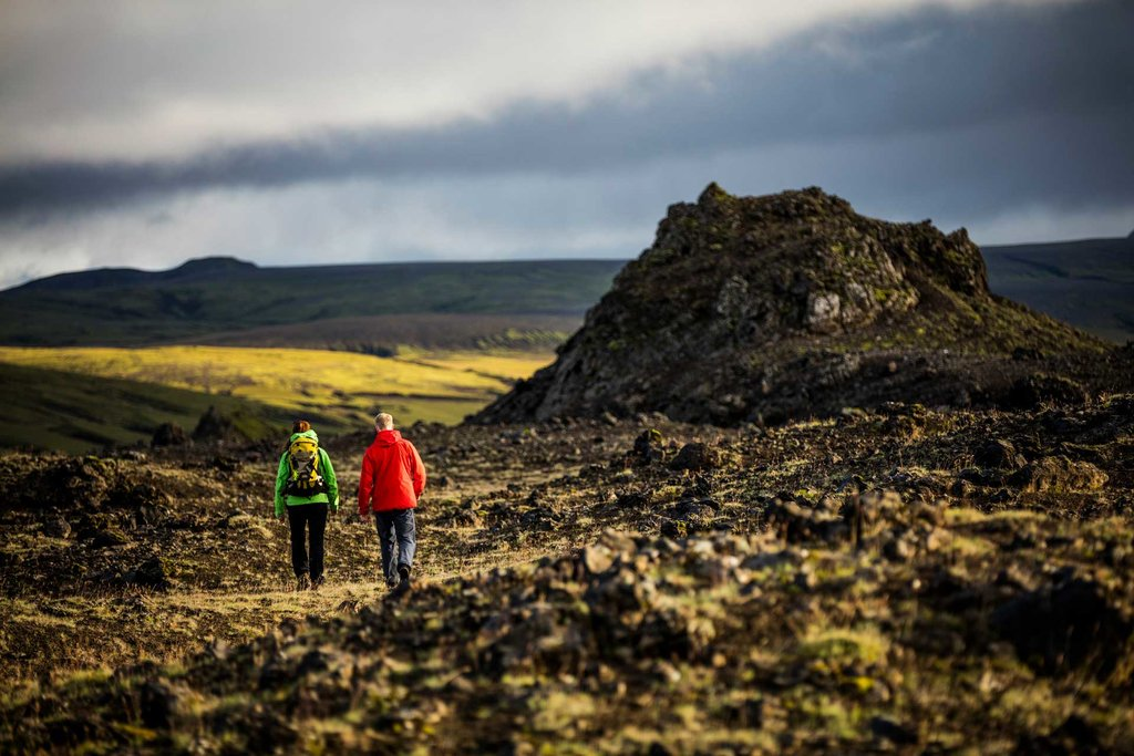 Exploring the area around Þríhyrningur