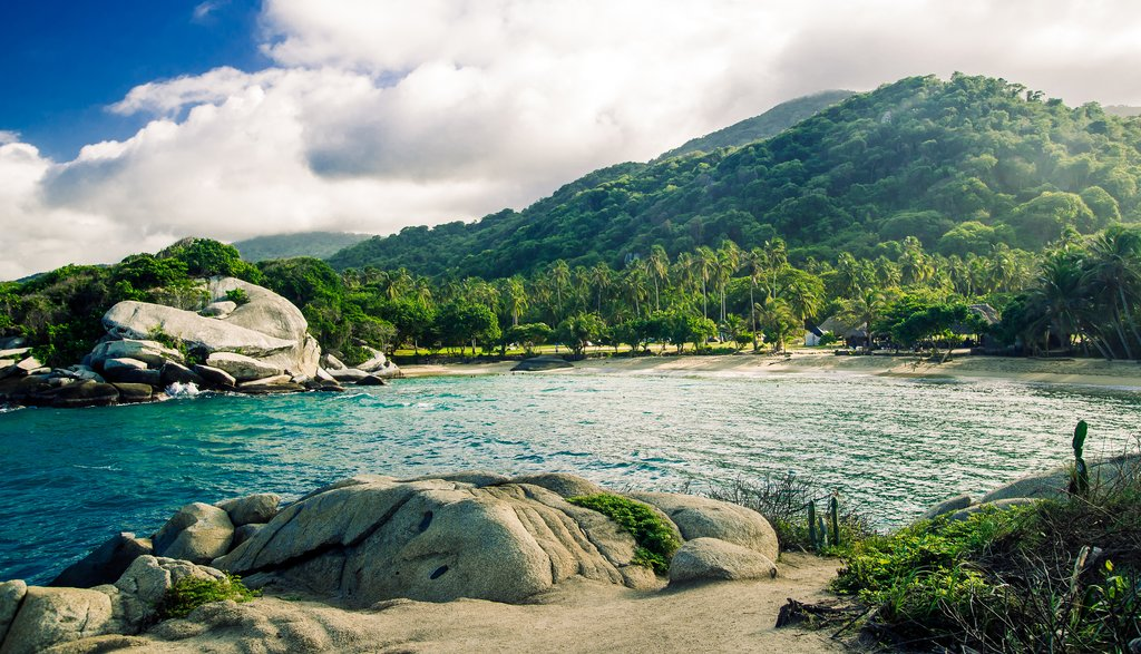 Hike in Tayrona's tropical rainforest and then hit the beach.