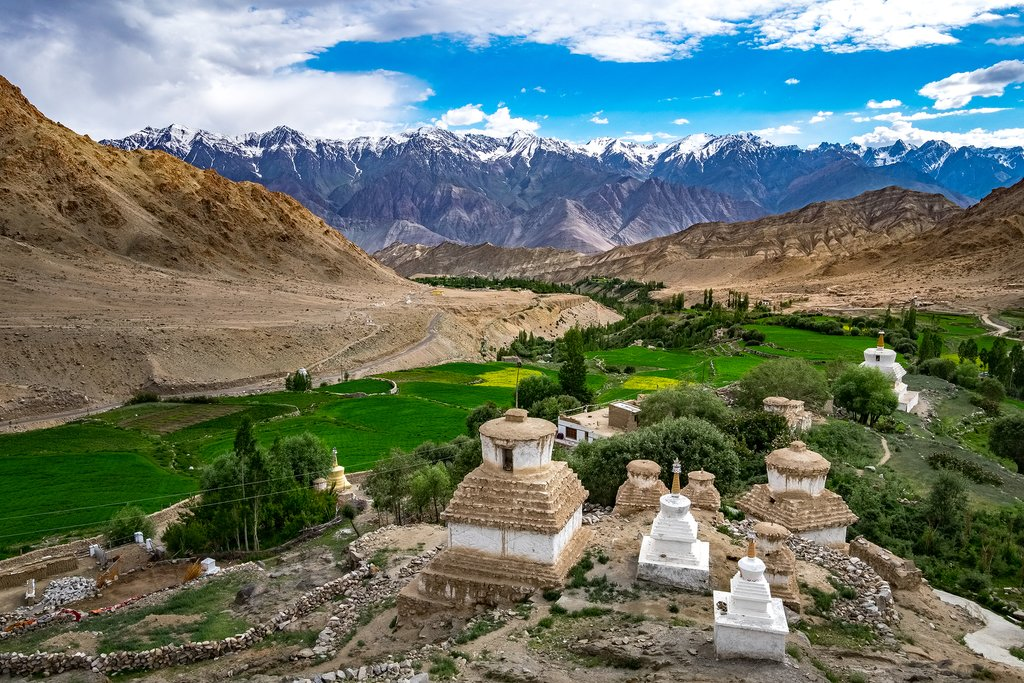 Valley surrounding Likir Monastery, Ladakh
