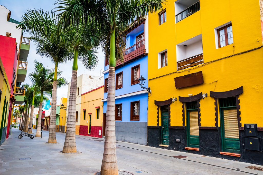 Colorful houses of Tenerife