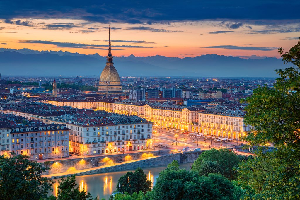 Sunset over Turin
