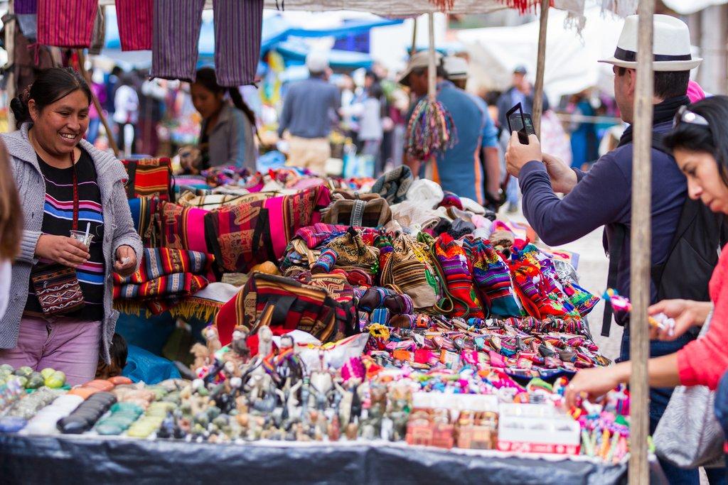 Market scene in Pisac.