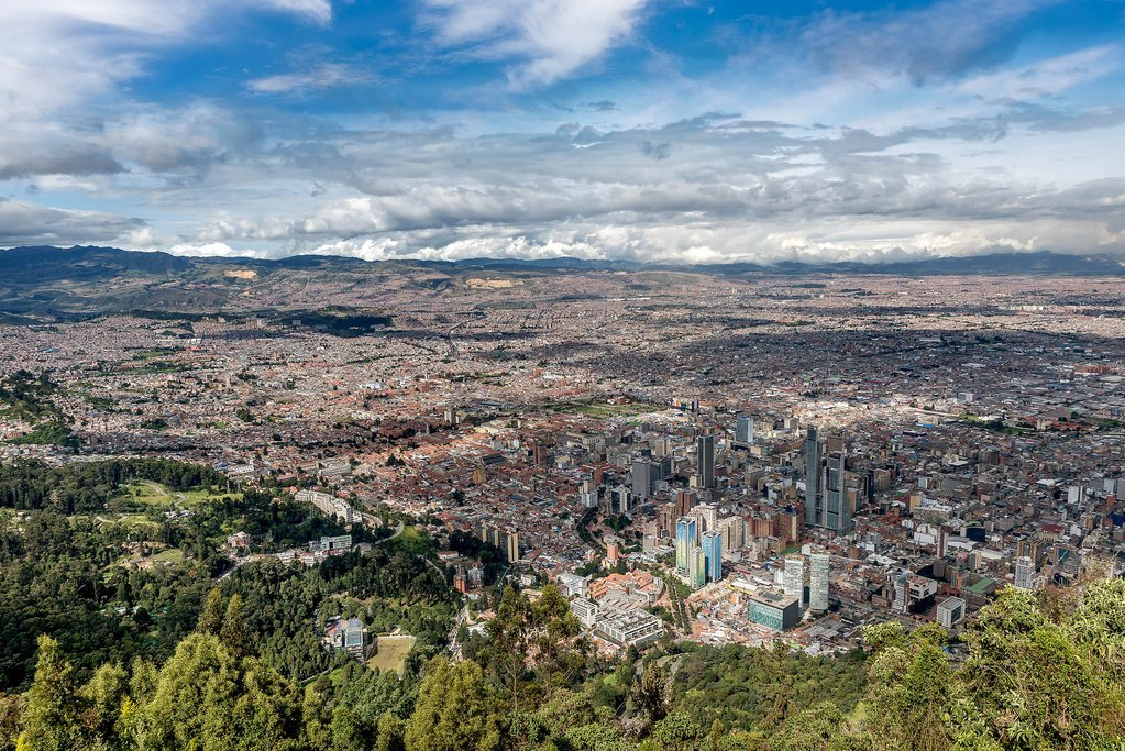 The view of Bogotá