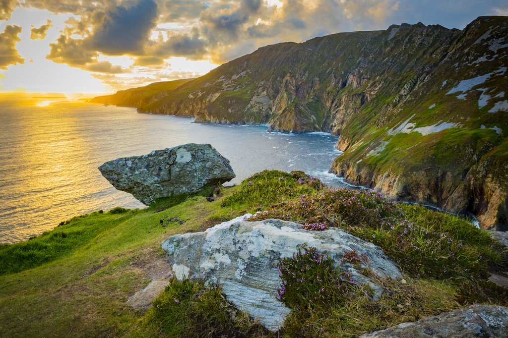 Ireland's highest sea cliffs, located in southwest Donegal