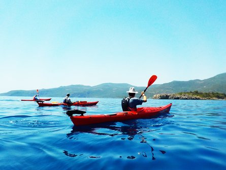 Kayaking on the deep blue waters of the Aegean