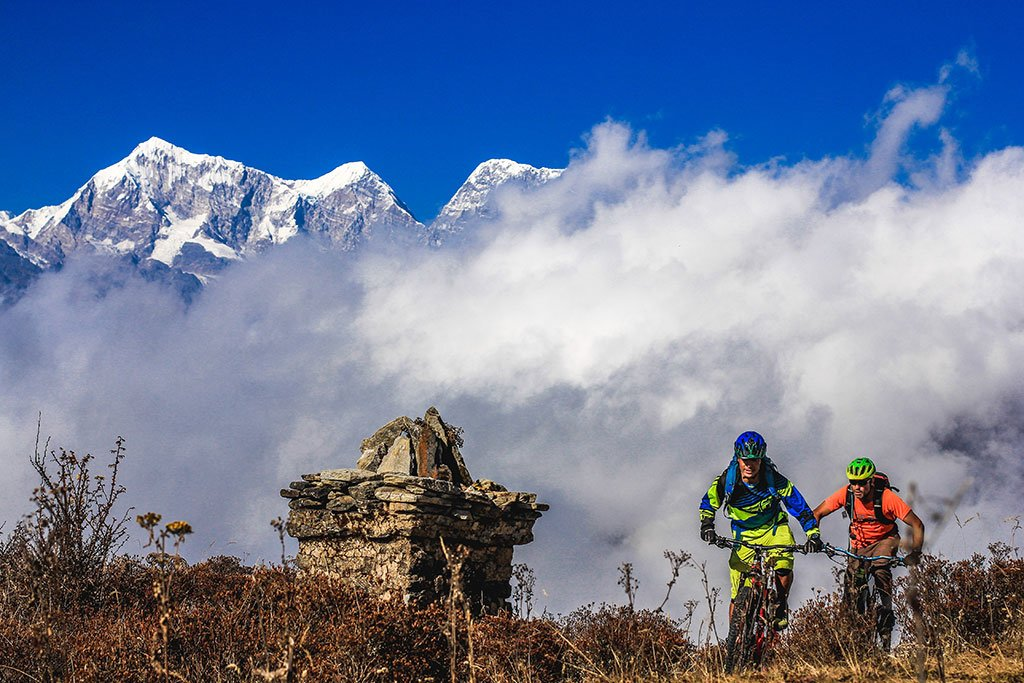 Riding in the Everest Region (Photo credit: Dawa Sherpa)