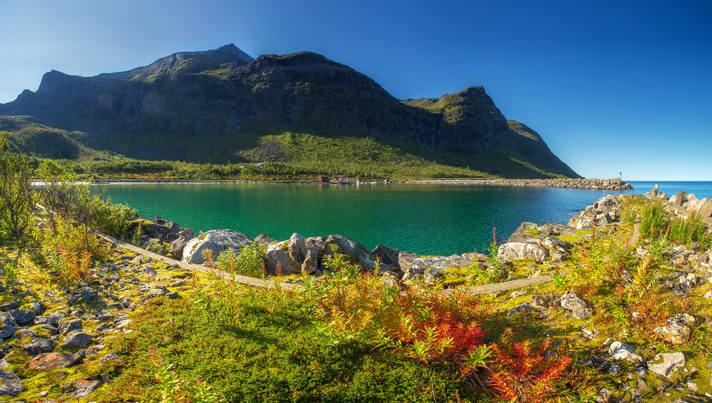 The first signs of autumn in northern Norway