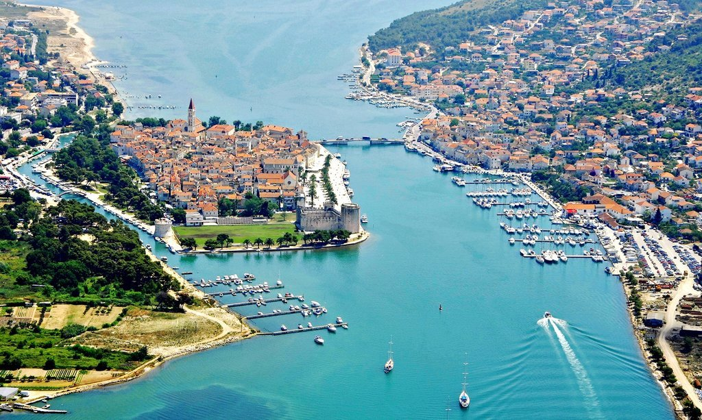 Near Split, lies the island-city of Trogir