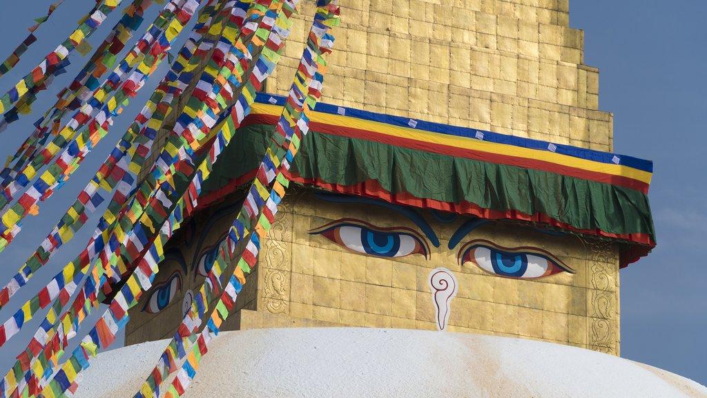 The eyes of Boudhanath Stupa in Kathmandu