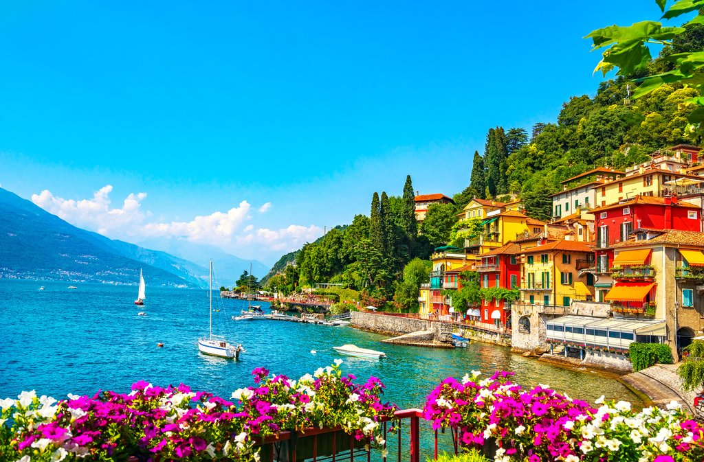 Town of Varenna on Lake Como