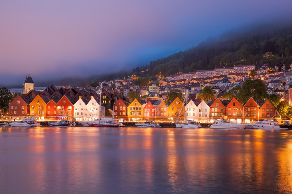 The historic Bryggen district in Bergen